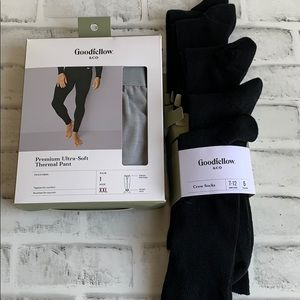 Goodfellow Gray Thermal Pant & Black Crew Socks